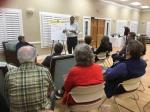 Dan Kortvelesy leads a Housing discussion