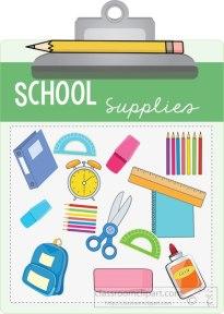 School supplies board
