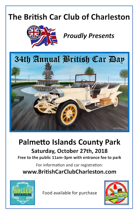 British Car Day Poster October 2018