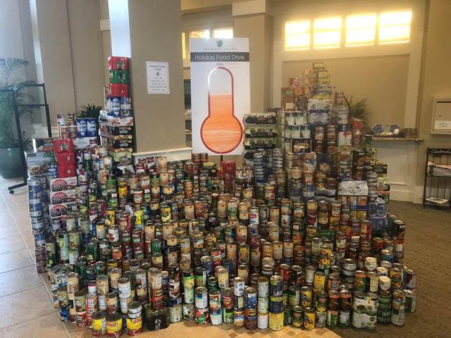 Canned food drive update Dec 2018