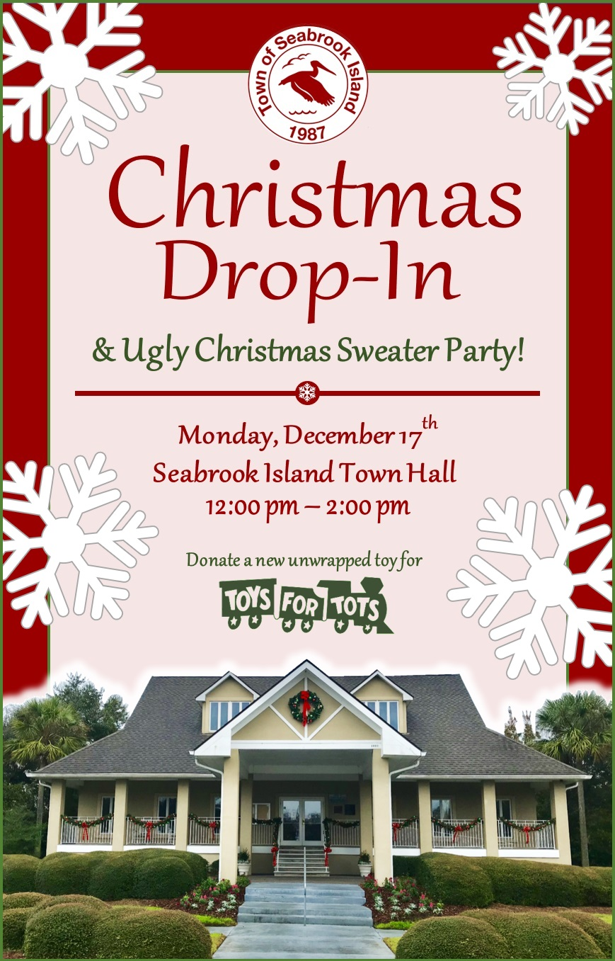 Island Christmas Theme.Town Of Seabrook Island Christmas Drop In Tidelines