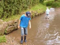 Children in river