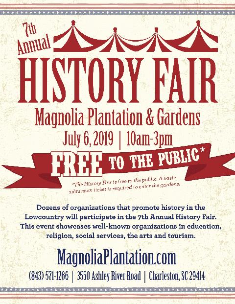 Magnolia Plantation History Fair June 2019