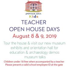 Drayton Hall Teacher Open House August 2019