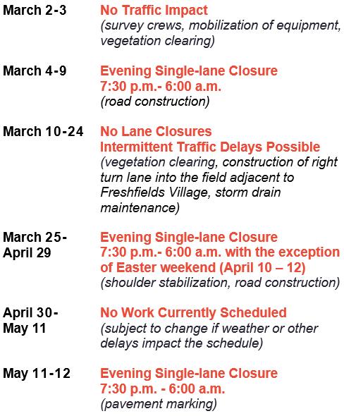 Kiawah Traffic Impact Notice March 2020